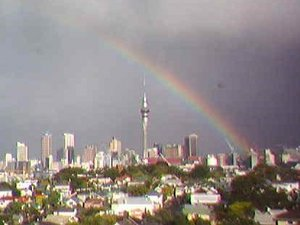 A rainbow in Auckland